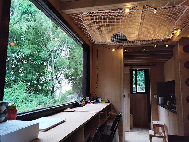 Vue intérieur de la tiny house
