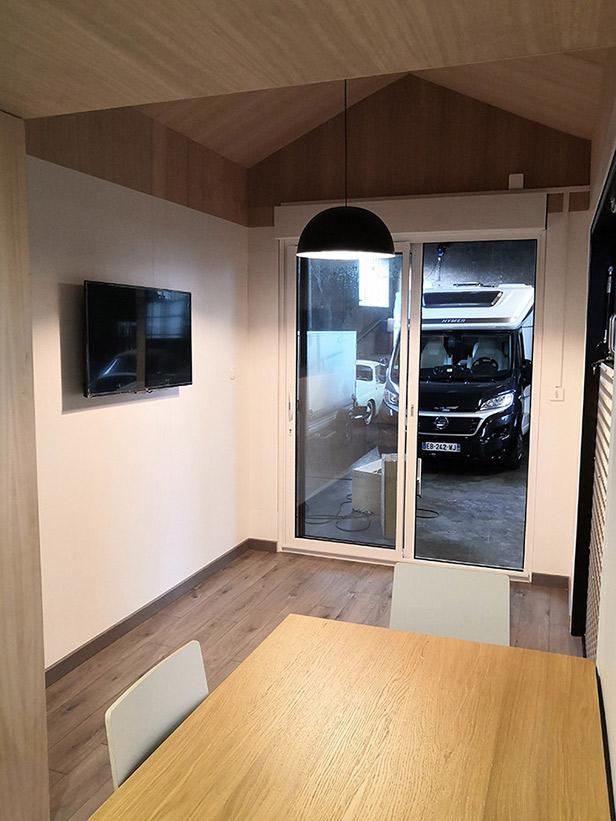Vue intérieur de la tiny house OSLO 2